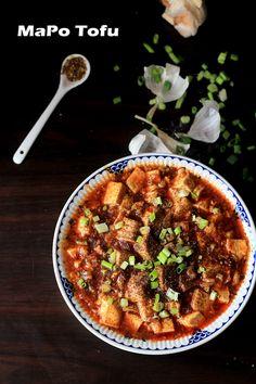 Authentic Mapo tofu recipe. skip the meat and add shiitake mushrooms
