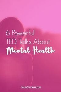 6 Powerful TED Talks about Mental Health | I'm so glad to see that mental health is getting talked about more and more lately. Especially when it comes to anxiety and depression, something more people suffer from than we talk about. These powerful TED Talks speak the truth about depression and mental health and provide a host of inspiration and tools for moving forward.