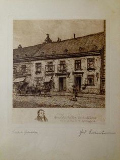 Ferdinand Eckhardt, Austria. Franz Scubert native house. 1920.