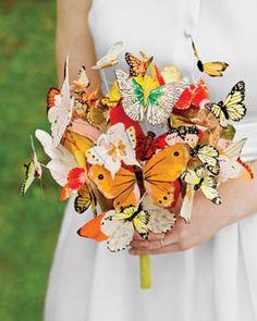 butterfly bouquet. Interesting.  www.atyourserviceweddings.net  www.facebook.com/rocnrevmike