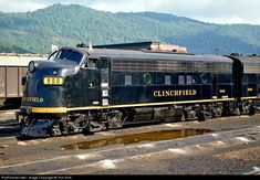 """Classification signals - RailPictures.Net Photo: CRR 800 Clinchfield Railroad EMD F3(A) at Erwin, Tennessee by Tom Sink, - White. Indicated an """"extra"""" train not shown in the timetable."""