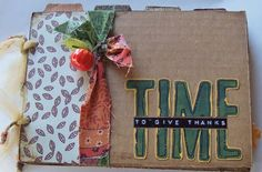 Thanksgiving album made from cardboard! live. love. scrap.: Mini Album Monday #65- Thanksgiving Album