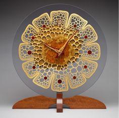 Functional Artwork - Mark Doolittle studio of Wood sculpture & Design Wooden Clock, Wooden Wall Art, Organic Art, Wood Turning Projects, Gourd Art, Sculpture Art, Driftwood Sculpture, Metal Sculptures, Abstract Sculpture