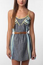 Staring at Stars Pop Bound Chambray Dress  #UrbanOutfitters