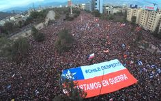 More than one million people are protesting against inequality in Santiago de Chile more than of the citys population. Radio Rebelde, Military Orders, Digital Text, Popular News, Social Change, R Memes, Secret Obsession, One In A Million, How To Dry Basil