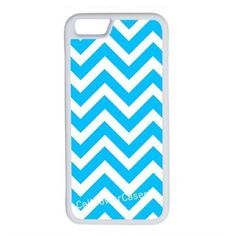 CellPowerCasesTM Chevron Aqua iPhone 6 (4.7) V1 White Case ($9.98) ❤ liked on Polyvore featuring accessories, tech accessories and white