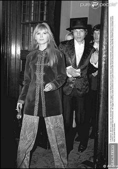 Marianne Faithfull et Mick Jagger dans les années 1960
