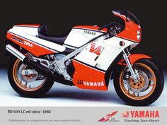 yamaha RD500LC - schoolboy dreams!! And they went round corners........couldn't stop tho!! Ha