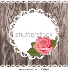 stock-vector-background-with-white-blank-empty-lace-frame-doily-realistic-rose-with-leaves-and-ribbons-border-257991467.jpg (450×470)