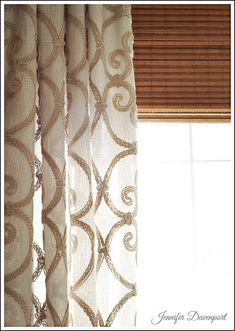 Pair bamboo with linen drapes. Modern Window Treatments - Inspirational ideas for your home!