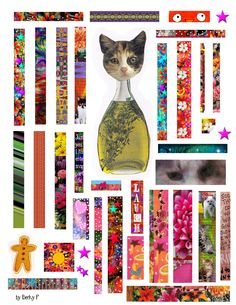 Free To Use    Collage sheet to use in your art journals, ATCs, wherever...