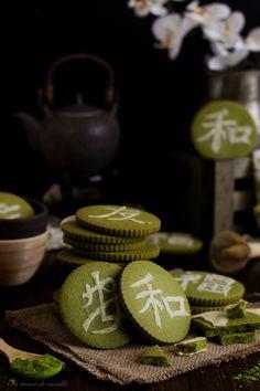Matcha tea cookies with white chocolate Matcha Cookies, Tea Cookies, Green Tea Recipes, Sweet Recipes, Matcha Smoothie, Smoothies, Tea Biscuits, Chocolate Blanco, White Chocolate