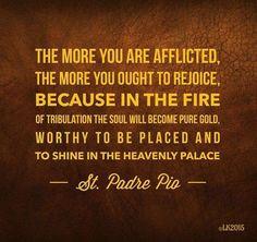 Suffering tribulations PadrePio