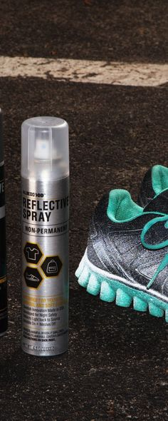 Stay safe and seen in the dark. This permanent safety spray, discovered by The Grommet, transforms clothes and objects into light-reflective surfaces at night.