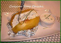 Pommes de terre en papillote, crème ciboulette.