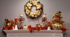 Fall in love with this season's home decorations. Watch At Home's 30 second video and see how to decorate your fireplace with fall décor.