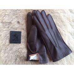 Winter Frauen Hirschleder Handschuhe Kaninchenfell-Futter #winterhandschuhe #handschuhe #lined #leather #gloves #lederhandschuhe #autohandschuhe #hungant