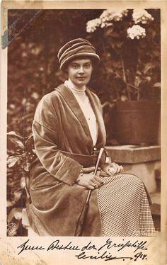 RPPC J K U K H Der Frau Kronprinzessin Germany Royalty Real Photo Postcard | eBay