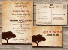 postcard wedding invitations - Google Search