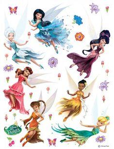 Wall sticker wall tattoo wall decoration TÜV - Disney princesses princess 65 x 85 cm / '' x '' Tinkerbell Characters, Tinkerbell And Friends, Tinkerbell Disney, Disney Fairies, Face Characters, Hades Disney, Disney Art, Disney Sticker, Disney Wall Stickers
