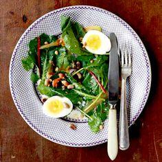 Collard Greens Salad with Peanut Vinaigrette Recipe | SAVEUR