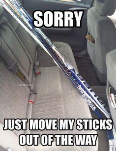 So true. yup this is what Sean's car looks like during hockey season Women's Hockey, Hockey Girls, Hockey Players, Rangers Hockey, Hockey Stuff, Hockey Baby, Lacrosse, Baseball, Boys