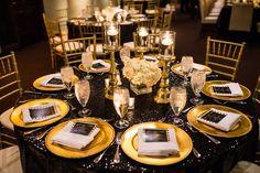 Black & Gold Wedding Ideas   Decor & Flowers: Keisha's Kreations   Photo: RM Photography