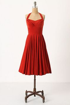 Rodna Halter Dress - anthropologie... adorable, but i would much rather find a pattern and sew one myself, looks like it would be pretty simple. and not $158.
