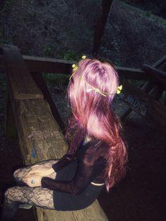 grunge flower crown