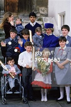 UNITED KINGDOM - DECEMBER 09: Diana Princess of Wales meets children nominated for 'Children of Courage Awards' at Westminster Abbey (Photo by Tim Graham/Getty Images)