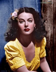 A young Hedy Lamarr, actress and inventor, colorized by Alex Y. Lim A young Hedy Lamarr, actress and inventor, colorized by Alex Y. Vintage Hollywood, Old Hollywood Glamour, Classic Hollywood, Hollywood Stars, Hollywood Icons, Hollywood Actresses, Look Vintage, Vintage Glamour, Vintage Beauty