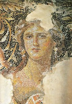 'Etruscan Mona Lisa of Galilee, from the city of Sepphoris, what was then Roman Palestine. She is part of a large mosaic decorating the triclinium floor in an Etruscan villa.: