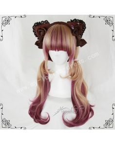 75cm Red Brown Curls Lolita Wig #lolita  #wig