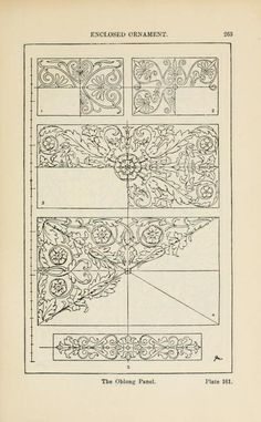 A handbook of ornament; enclosed ornament the oblong panel pg 263