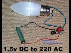How to Make AAA (1.5V) Battery to 220V AC Inverter - YouTube