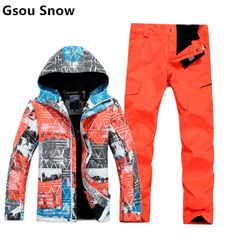 Winter GSOU SNOW board jackets  amp  pant ski jacket men mountain skiing  suits for men f28c8f058