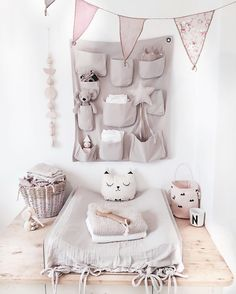 The dusty rose them is totally working for me, not too girly yet still soft and pretty. #estella #nursery #decor