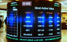 P3 Cylindrical LED video wall installed at NSE India.