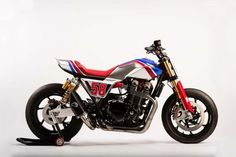 Honda unveils the Honda CB1100 TR Concept bike at the EICMA show in Milan, Italy.