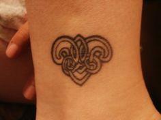 Celtic Heart Ankle Tattoos Design.