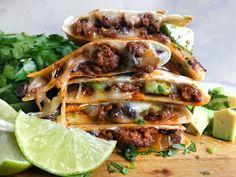 Looking for remarkable Cheesy Ground Beef Quesadillas? You've come to the right region! Well pro floor red meat, masses of ooey gooey cheese and a crispy. Healthy Dinner Recipes, Mexican Food Recipes, New Recipes, Cooking Recipes, Ethnic Recipes, Mexican Dishes, Recipies, Mexican Potluck, Mexican Cooking