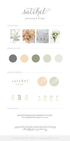 Brand Reveal: Satchel Planning and Design   August + White Branding Services   Brand Board   Wedding Planner Brand   Website Design