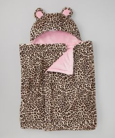 Take a look at this SL Fashions Light Pink Leopard Hooded Blanket on zulily today!