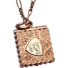 Gold Filled 1892 Locket Etched NAF