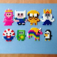Adventure Time perler beads by mistervanderwel