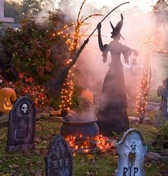 Halloween at my moms this year, totally making her yard a haunted cemetary!