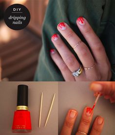 DIY Dripping nails by Honestly WTF