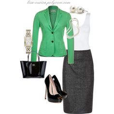 Mint & Grey Chic by lisa-eurica on Polyvore