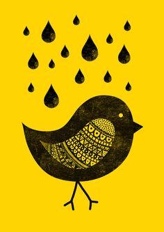 Bird art print by Farnell at Society6