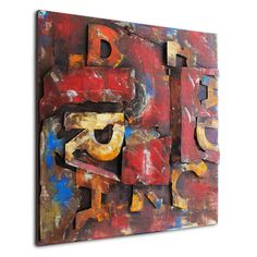 Letters.  NEW TREND! Industrial Style compilation of letters coated with vintage painting. There are a lot of metal elements & details painted to the metal plate and make a beautiful relief.